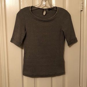 Peserico Top, Gray, size 4